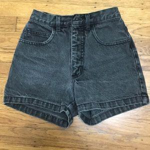 High Waisted Vintage Shorts Black